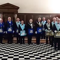 For the milestone meeting, the lodge room was graced by many distinguished Masons