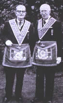W.Bro. D.R. Counsell (seen here on the right)